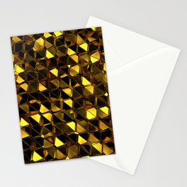 Golden Polygons 02 Stationery Cards