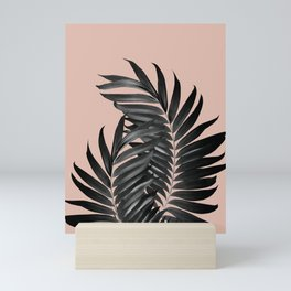 Palm Leaves Pale Terracotta Black Vibes #1 #tropical #decor #art #society6 Mini Art Print