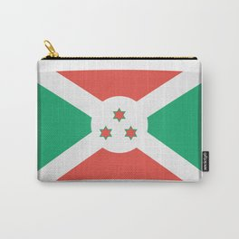 Flag of Burundi.  The slit in the paper with shadows. Carry-All Pouch