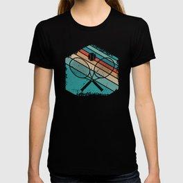 Retro sunset Tennis gifts T-shirt