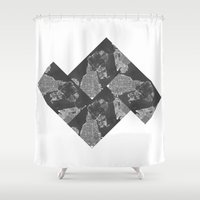 vancouver Shower Curtains featuring Vancouver Grey by Mark John Grant