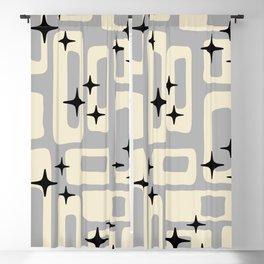 Retro Mid Century Modern Abstract Pattern 576 Gray Black Blackout Curtain