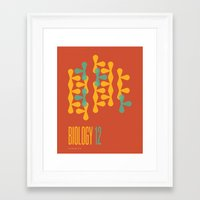 biology Framed Art Prints featuring Biology 12 by lynseycreative