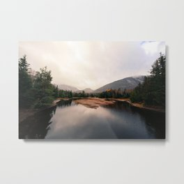 Camp Reservoir Metal Print