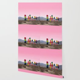 Seven Magic Mountains with Pink Sky - Las Vegas Wallpaper