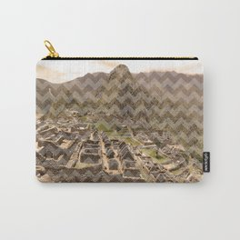 Machu Picchu Chevron Carry-All Pouch