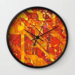 Dots and Diagonals Wall Clock