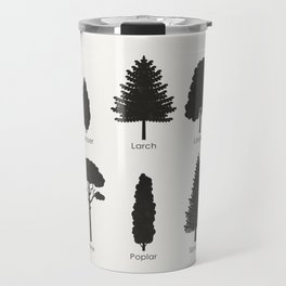 Infographic Guide for Tree Species by Shapes or Silhouette Travel Mug