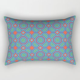 California Dreaming Abstract Geometric Seamless Pattern Rectangular Pillow