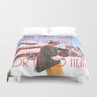will ferrell Duvet Covers featuring Christmas Cheer / Elf by Earl of Grey