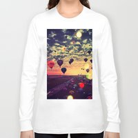 balloons Long Sleeve T-shirts featuring Balloons by Cultivate Bohemia