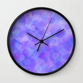 Ultra Violet Pastel Polka Dots Wall Clock