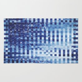 Nautical pixel abstract pattern Rug