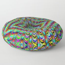 Frilly Paintbox Fractal Floor Pillow