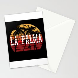 La Palma Palm Tree Holiday Motif Gift Idea Design Stationery Cards
