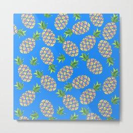 Tropical Pineapple Sunrise Metal Print