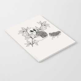 Pomegranate (BW) Notebook