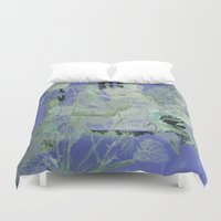 transparent Duvet Covers featuring transparent flowers by clemm