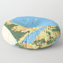 Travel Posters - Algarve Floor Pillow