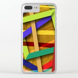Abstract #356 Clear iPhone Case