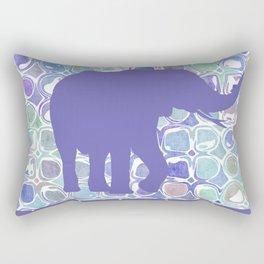 Abstract Purple Elephant Rectangular Pillow