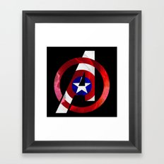 Captain America Avengers Framed Art Print