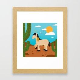 Show Pony Framed Art Print