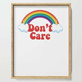 Don't Care | Rainbow Serving Tray