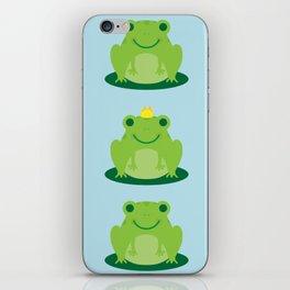 Cute Kawaii Frogs iPhone Skin
