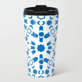 Blue Arabesque Travel Mug