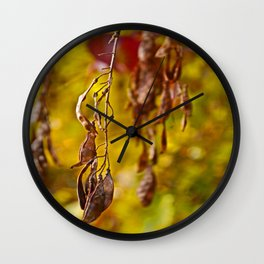 autumn leafs Wall Clock