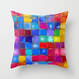 MoSaiC ART ' ALL THe PReTTY CoLouRS ' By SHiRLeY MacARTHuR Throw Pillow