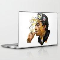 hip hop Laptop & iPad Skins featuring Hip-hop cubism by Katty Zyu