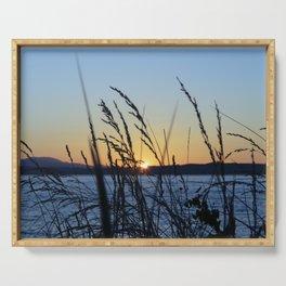Sunset Sea Grass Serving Tray