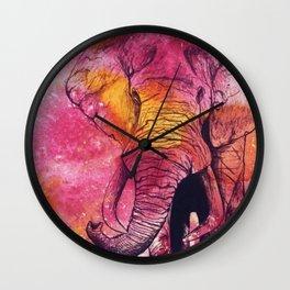 Bright Elephant Wall Clock