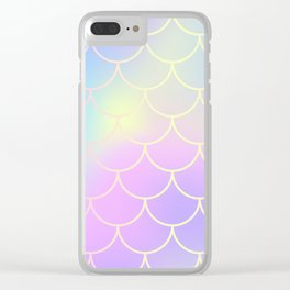 Pink Blue Mermaid Tail Abstraction Clear iPhone Case