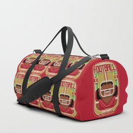 American Football Red and Gold - Hail-Mary Blitzsacker - Aretha version Duffle Bag
