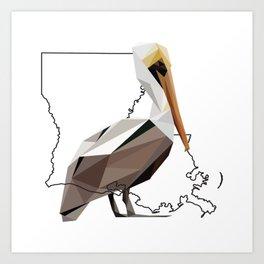 Louisiana – Pelican Art Print