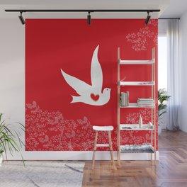 Wings of Love - Red Wall Mural