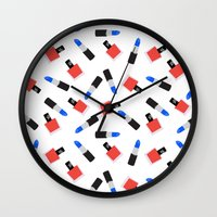 girl power Wall Clocks featuring Girl Power by @VerbNYC