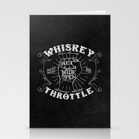 whiskey Stationery Cards featuring Whiskey Throttle  by Kris Petrat Design :  Art Love Moto