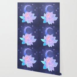 moon lotus flower Wallpaper