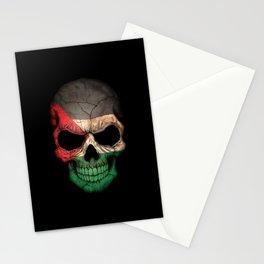 Dark Skull with Flag of Palestine Stationery Cards