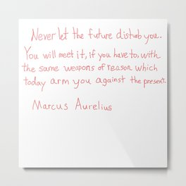 Marcus Aurelius Quote Metal Print