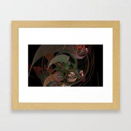 Abstract Fractal Spiral Framed Art Print