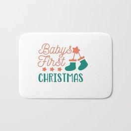 Babys First Christmas shirt Bath Mat