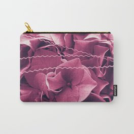 A Sea of Purple Pink Hydrangea Blossoms #1 #floral #art #society6 Carry-All Pouch