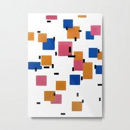 Piet Mondrian - Composition in Color A 1917 Artwork for Wall Art, Prints, Posters, Tshirts, Men, Women, Kids Metal Print