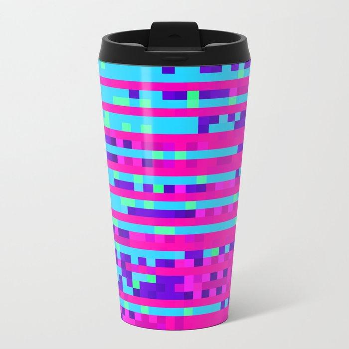 Pixel Pattern 2 Metal Travel Mug