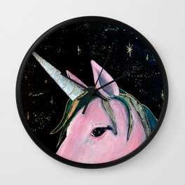 Space Unicorn Wall Clock